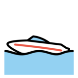 Speedboat on OpenMoji 1.0