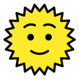 Sun with Face on OpenMoji 1.0