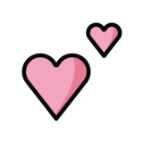 Two Hearts on OpenMoji 1.0