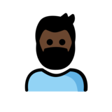 Person: Dark Skin Tone, Beard on OpenMoji 12.0