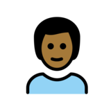 Man: Medium-Dark Skin Tone, Blond Hair on OpenMoji 12.0