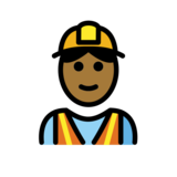 Construction Worker: Medium-Dark Skin Tone on OpenMoji 12.0