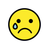 Crying Face on OpenMoji 12.0