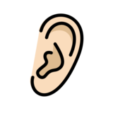 Ear: Light Skin Tone on OpenMoji 12.0