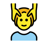 Person Getting Massage on OpenMoji 12.0