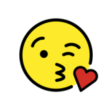 Face Blowing a Kiss on OpenMoji 12.0