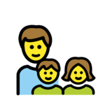 Family: Man, Girl, Boy on OpenMoji 12.0