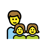 Family: Man, Girl, Girl on OpenMoji 12.0