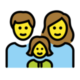 Family: Man, Woman, Girl on OpenMoji 12.0