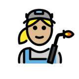 Woman Factory Worker: Medium-Light Skin Tone on OpenMoji 12.0
