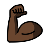 Flexed Biceps: Dark Skin Tone on OpenMoji 12.0