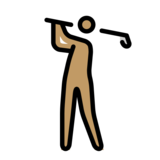Person Golfing: Medium Skin Tone on OpenMoji 12.0