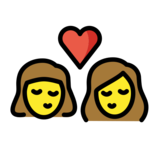 Kiss: Woman, Woman on OpenMoji 12.0