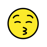 Kissing Face with Closed Eyes on OpenMoji 12.0