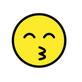 Kissing Face with Smiling Eyes on OpenMoji 12.0