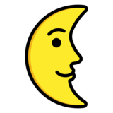 Last Quarter Moon Face on OpenMoji 12.0
