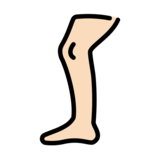 Leg: Light Skin Tone on OpenMoji 12.0
