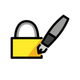 Locked With Pen on OpenMoji 12.0