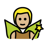 Man Fairy: Medium-Light Skin Tone on OpenMoji 12.0