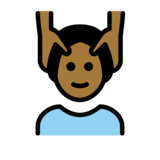 Man Getting Massage: Medium-Dark Skin Tone on OpenMoji 12.0