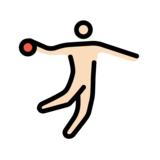 Man Playing Handball: Light Skin Tone on OpenMoji 12.0