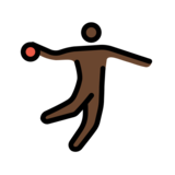 Man Playing Handball: Dark Skin Tone on OpenMoji 12.0