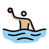 Man Playing Water Polo: Medium-Light Skin Tone on OpenMoji 12.0