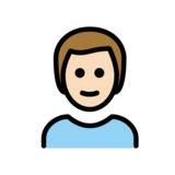 Man: Light Skin Tone, Red Hair on OpenMoji 12.0