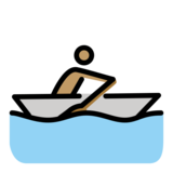 Man Rowing Boat: Medium Skin Tone on OpenMoji 12.0