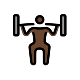 Man Lifting Weights: Dark Skin Tone on OpenMoji 12.0