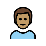 Man: Medium Skin Tone, White Hair on OpenMoji 12.0