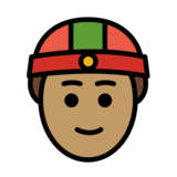 Person With Skullcap: Medium Skin Tone on OpenMoji 12.0