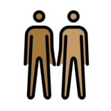 Men Holding Hands: Medium-Dark Skin Tone, Medium Skin Tone on OpenMoji 12.0