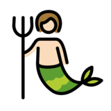 Merperson: Light Skin Tone on OpenMoji 12.0