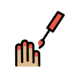 Nail Polish: Medium-Light Skin Tone on OpenMoji 12.0