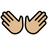 Open Hands: Medium-Light Skin Tone on OpenMoji 12.0