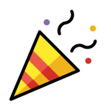 Party Popper on OpenMoji 12.0