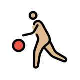 Person Bouncing Ball: Medium-Light Skin Tone on OpenMoji 12.0