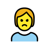 Person Pouting on OpenMoji 12.0