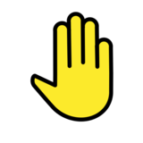 Raised Back of Hand on OpenMoji 12.0