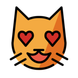 Smiling Cat with Heart-Eyes on OpenMoji 12.0