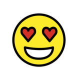 Smiling Face with Heart-Eyes on OpenMoji 12.0