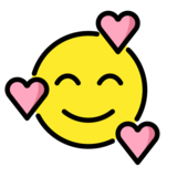 Smiling Face with Hearts on OpenMoji 12.0