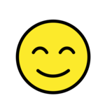 Smiling Face With Smiling Eyes on OpenMoji 12.0