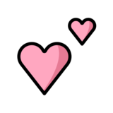 Two Hearts on OpenMoji 12.0
