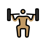 Person Lifting Weights: Medium Skin Tone on OpenMoji 12.0