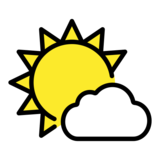 Sun Behind Small Cloud on OpenMoji 12.0