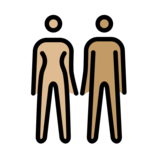 Woman and Man Holding Hands: Medium-Light Skin Tone, Medium Skin Tone on OpenMoji 12.0