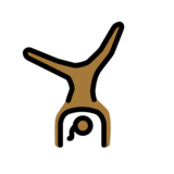 Woman Cartwheeling: Medium-Dark Skin Tone on OpenMoji 12.0