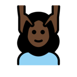 Woman Getting Massage: Dark Skin Tone on OpenMoji 12.0